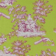 Gutermann Fabric Toile French Cottage Lime Green - per quarter metre